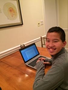 Jake at computer