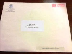 Governor Chris Christie-Envelope