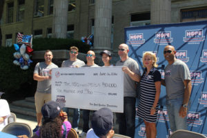 Check Presentation Yankees Foundation to USO of Metropolitan NY